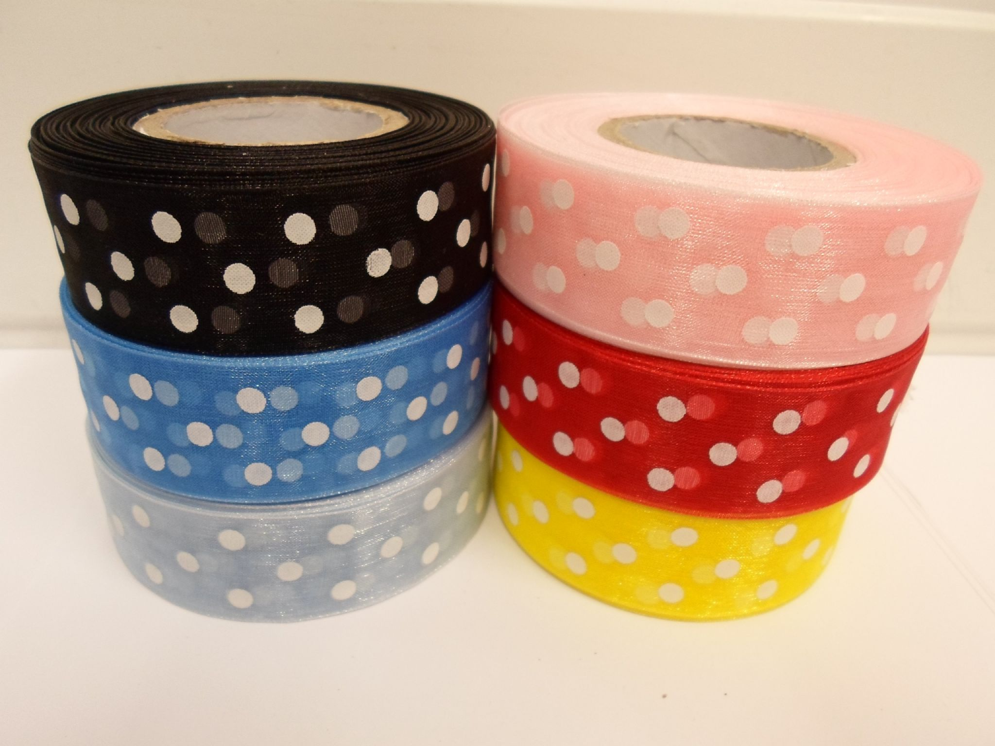 Baby light pink and white polka dot spotted organza ribbon 2 or 20 baby light pink and white polka dot spotted organza ribbon 2 or 20 metres x aloadofball Image collections